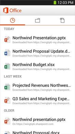 Выпущен Microsoft Office Mobile для Android