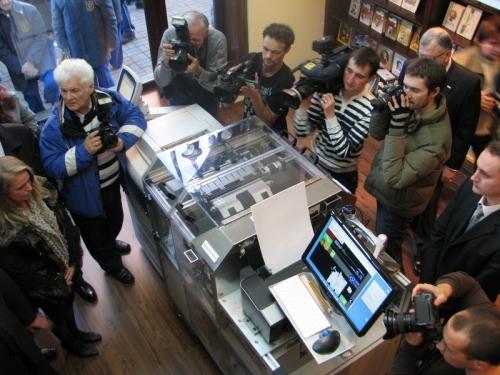 В Киеве открылся магазин, где книги можно печатать за считанные минуты