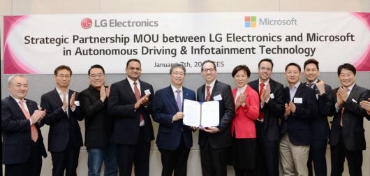 LG задействует технологии Microsoft Azure в беспилотных автомобилях