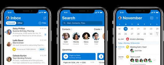 Microsoft совершенствует приложение Outlook для iOS