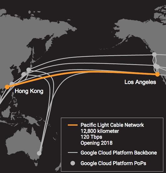 Фейсбук иGoogle проложат подводный кабель отЛос-Анджелеса доГонкога