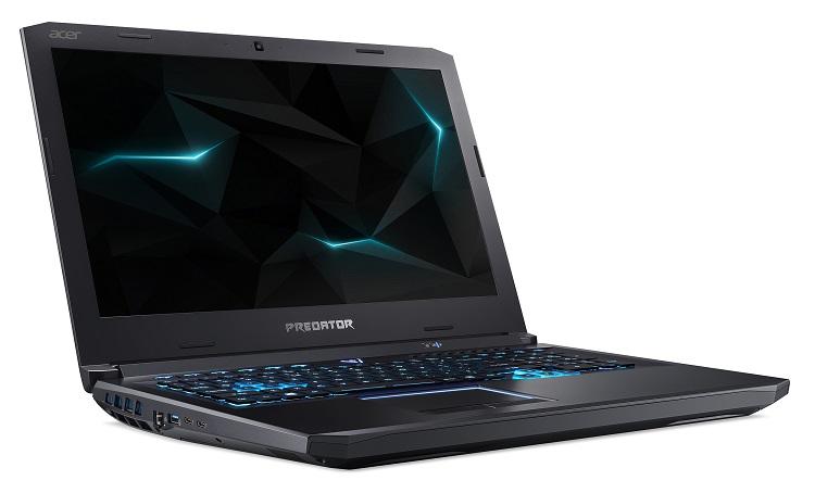 Два новых игровых ноутбука Acer Predator Helios поддерживают VR и частоту экрана 144 ГГц