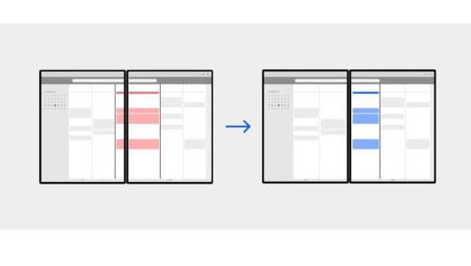 Microsoft показала как приложения могут работать с двумя экранами