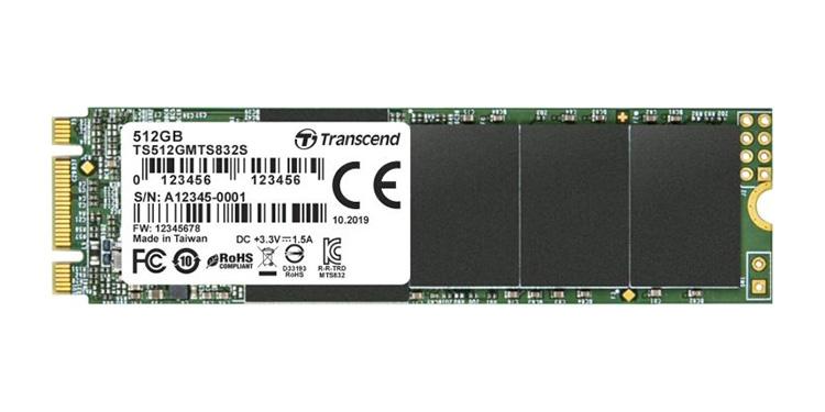 Transcend выпустила SSD MTS832S, выполненный в одностороннем форм-факторе M.2