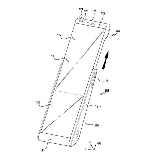 Samsung запатентовала раздвигающийся смартфон с рулонным дисплеем