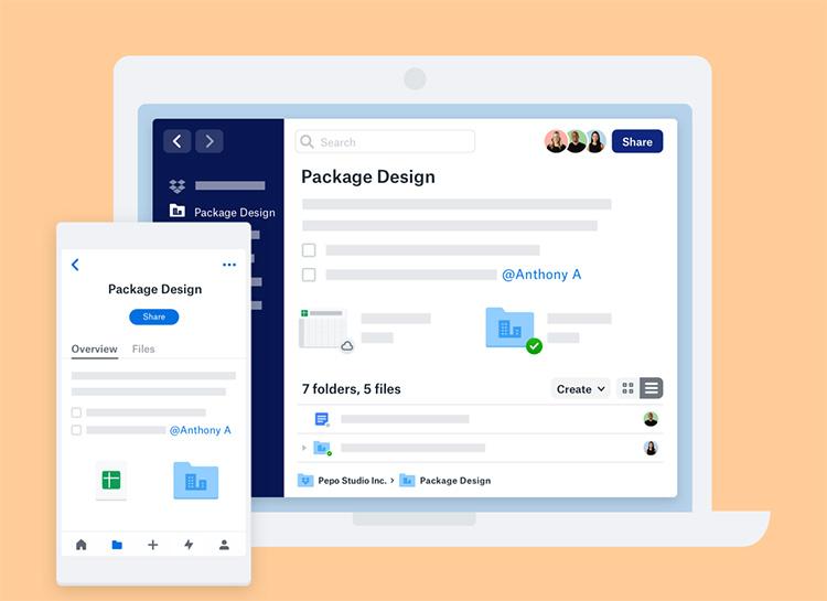Dropbox перезапускается с новыми интерфейсом, приложениями и интеграцией