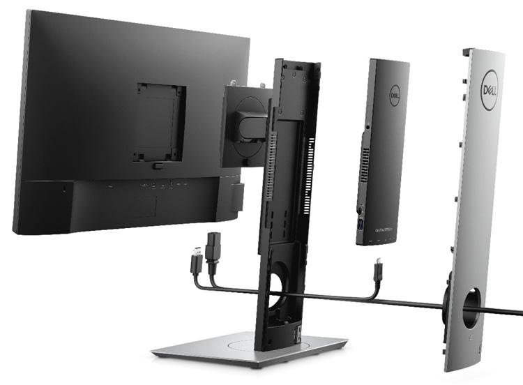 Новый десктоп Dell OptiPlex 7070 Ultra скрывается в подставке для монитора