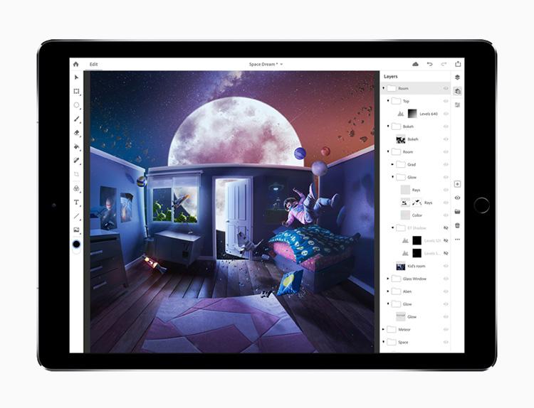 Adobe показала Photoshop CC для iPad и новые приложения для творчества