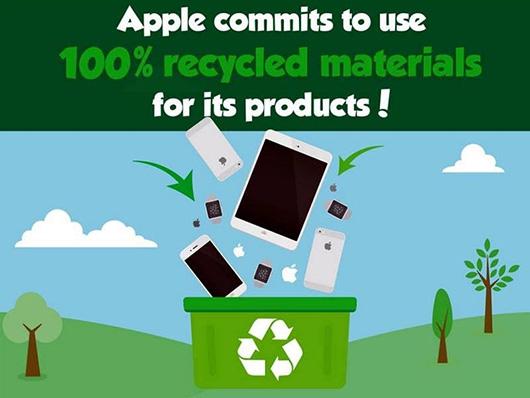 Apple планирует начать использовать впроизводстве только переработанные металлы