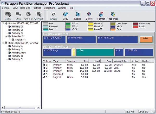 Paragon Partition Manager Free Edition - фото 8